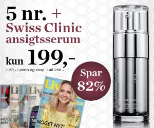 Magasinet Liv 5 nr + Swiss Clinic ansigtsserum